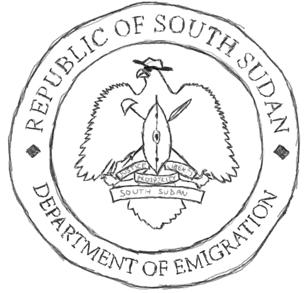 Satirical coat of arms for South Sudan
