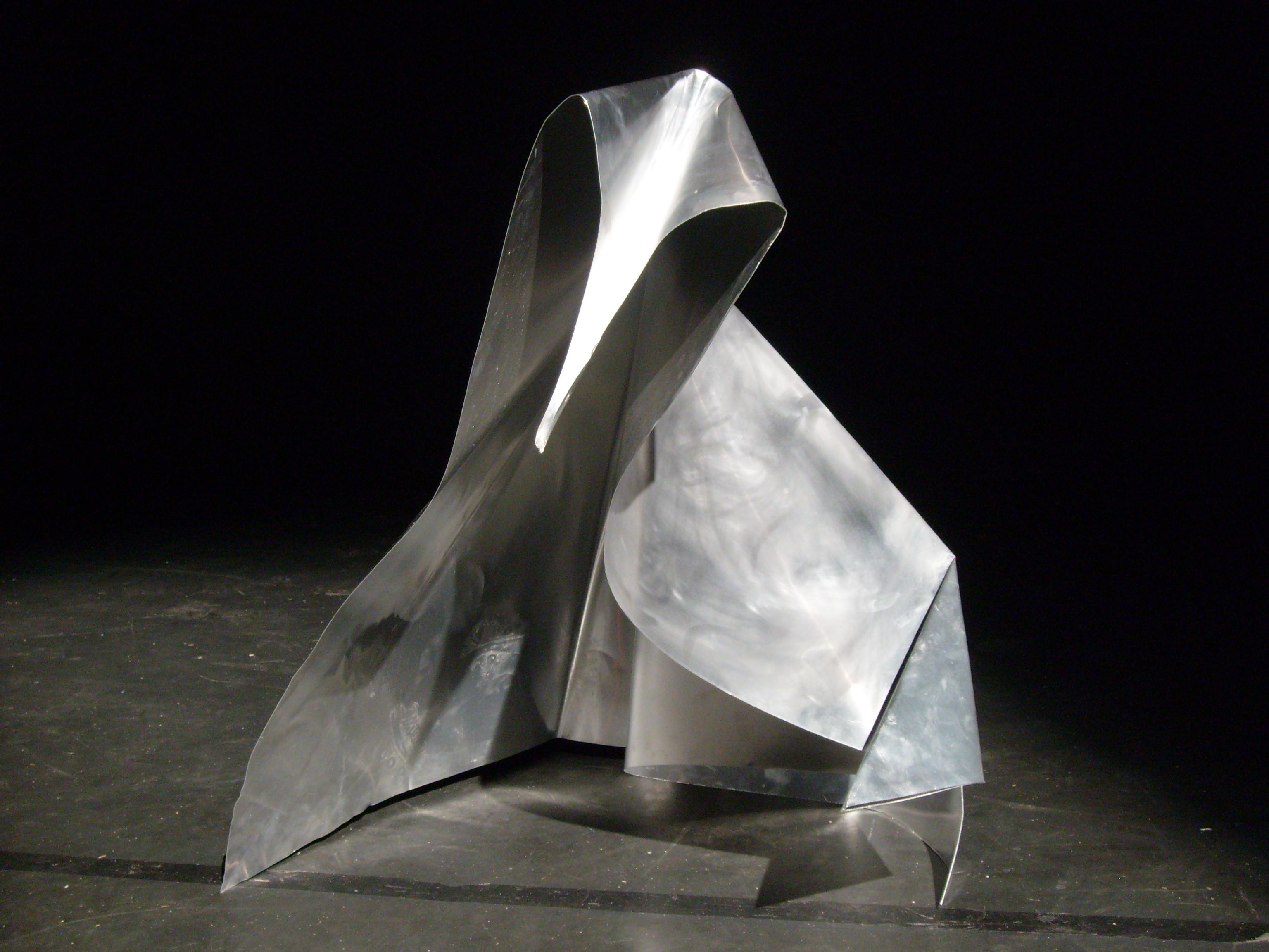 metal origami swan attempt 2